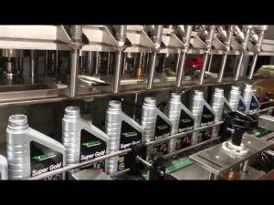 popolna avtomatska linija opreme za polnjenje olja mazalnega maziva