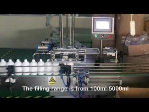 avtomatski stroj za polnjenje stekleničk s šamponom z dve šobo