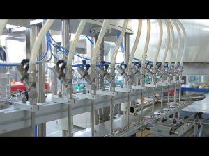 razkuževalni stroj za polnjenje stekleničk z alkoholom za ročno milo
